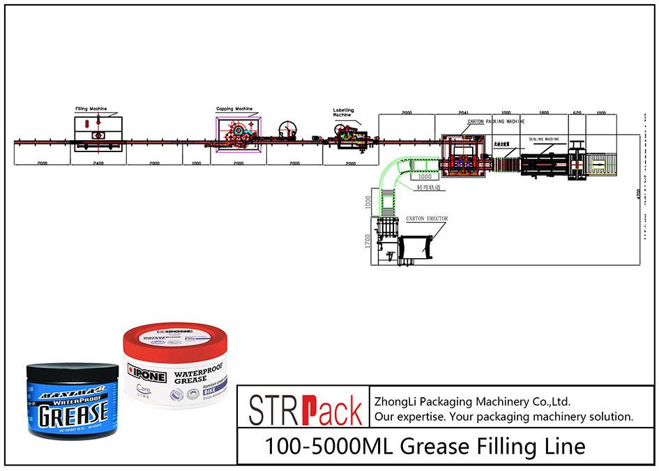 ავტომატური 100ML-5L ცხიმიანი შევსების ხაზი