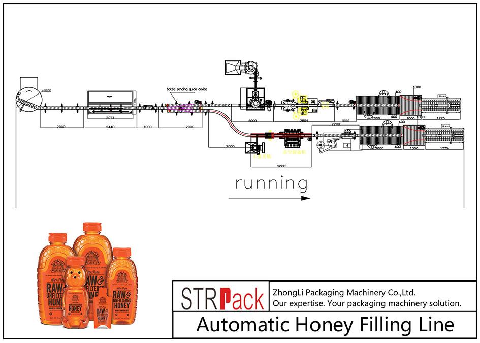 თაფლის ავტომატური შევსების ხაზი