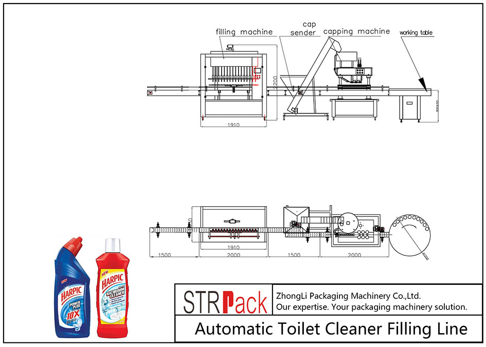 ტუალეტის დასუფთავების ავტომატური შევსების ხაზი